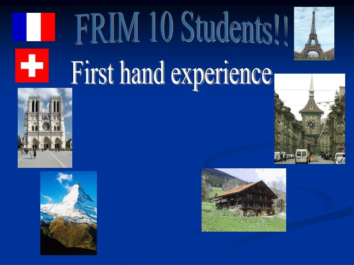 FRIM 10 Students!!
