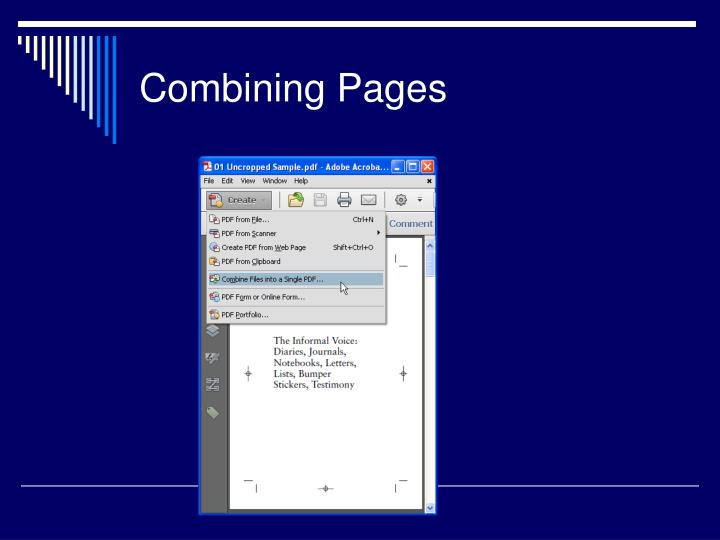 Combining Pages