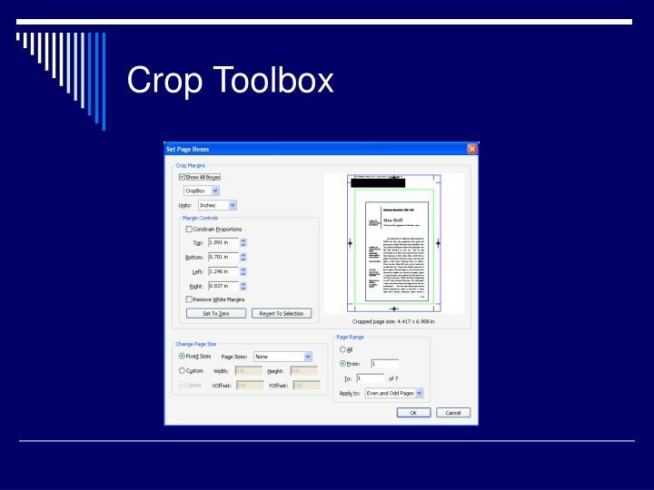 Crop Toolbox