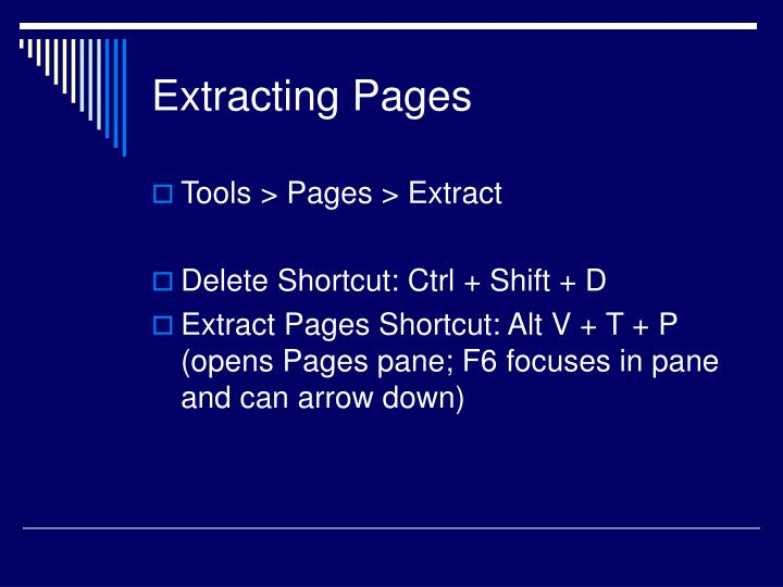 Extracting Pages
