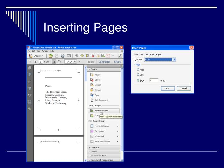 Inserting Pages