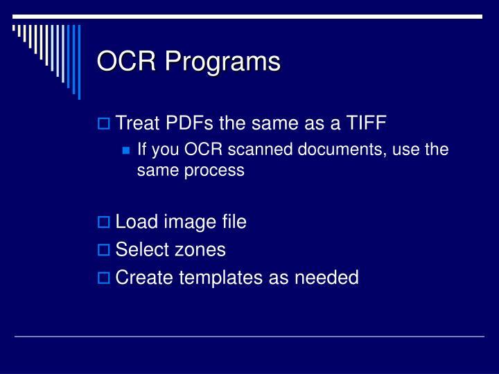 OCR Programs