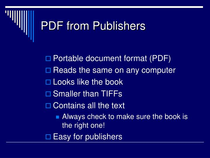 Pdf from publishers