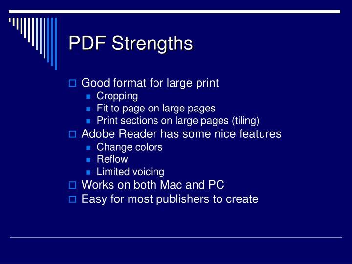PDF Strengths