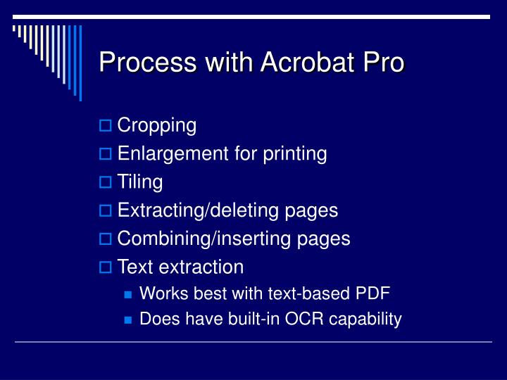 Process with Acrobat Pro