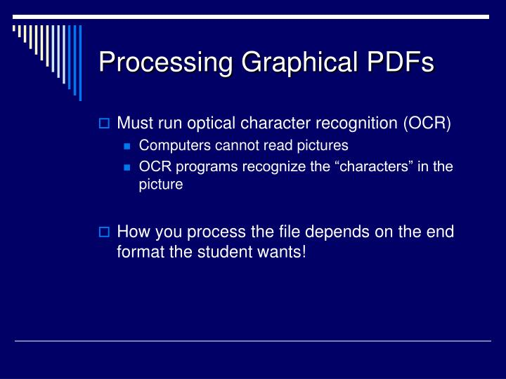 Processing Graphical PDFs