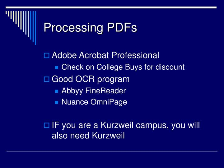 Processing PDFs