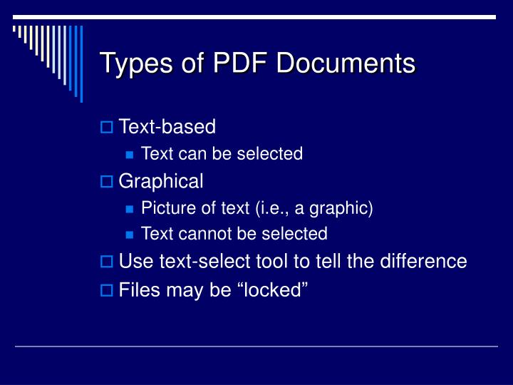 Types of PDF Documents