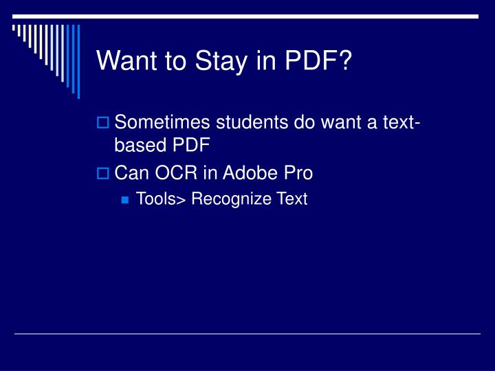 Want to Stay in PDF?