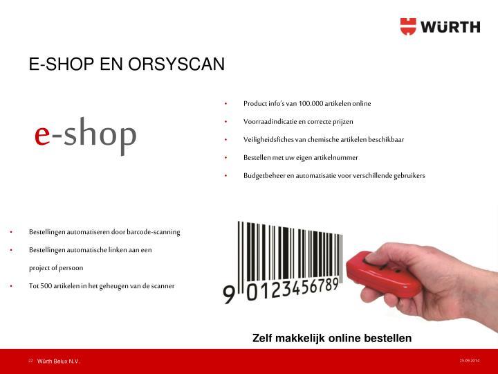 E-SHOP EN ORSYSCAN