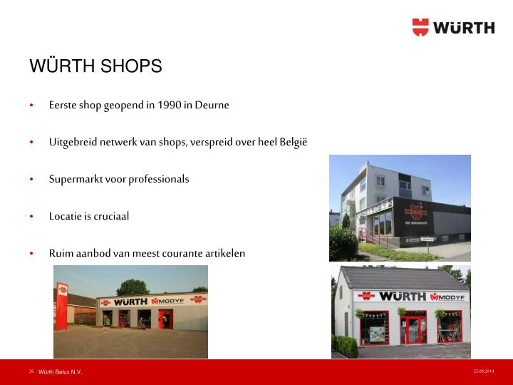 WÜRTH SHOPS