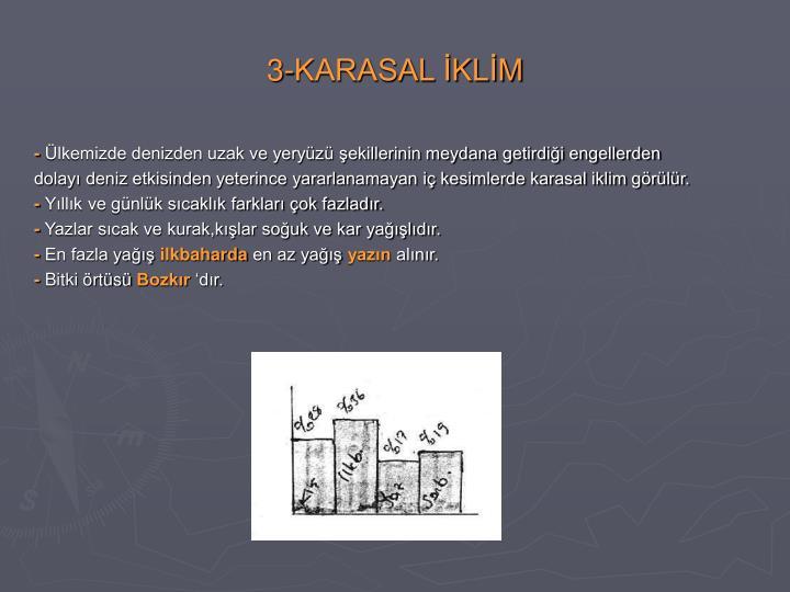 3-KARASAL İKLİM