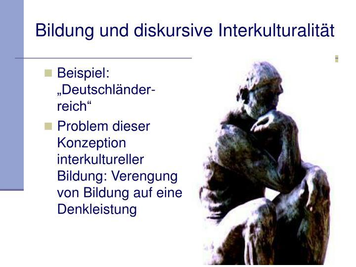 Bildung und diskursive Interkulturalität