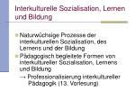 interkulturelle sozialisation lernen und bildung5