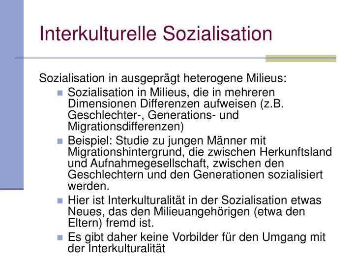 Interkulturelle Sozialisation