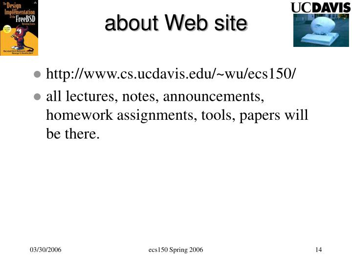 about Web site