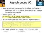 asynchronous i o