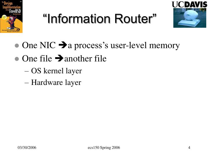 """Information Router"""