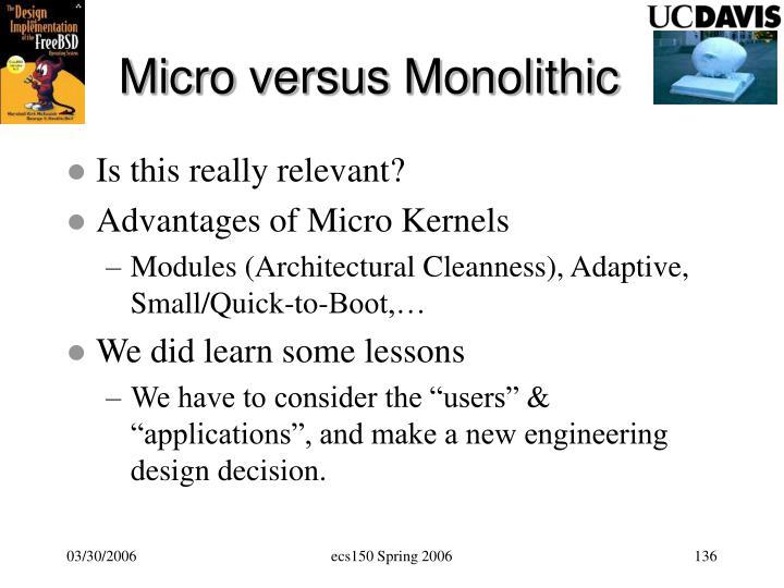 Micro versus Monolithic