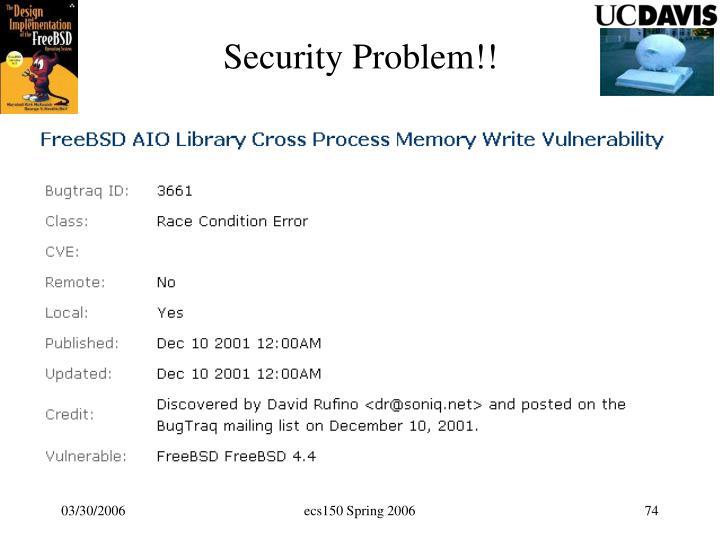 Security Problem!!