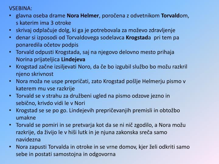 VSEBINA:
