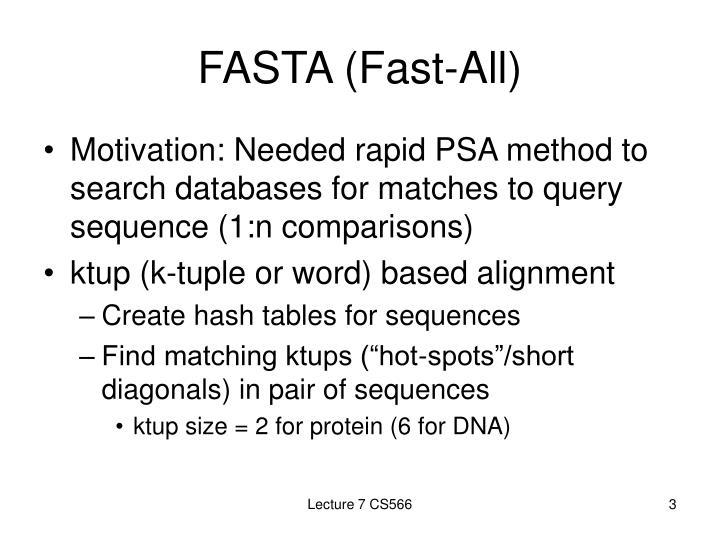 FASTA (Fast-All)