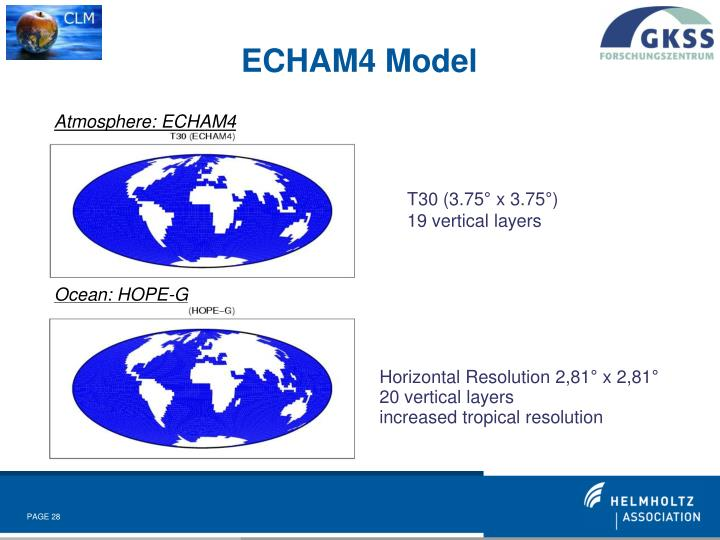 Atmosphere: ECHAM4