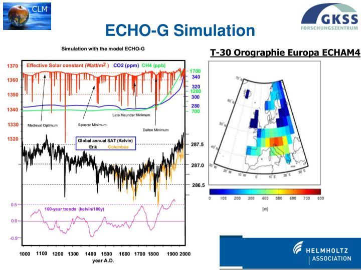 T-30 Orographie Europa ECHAM4