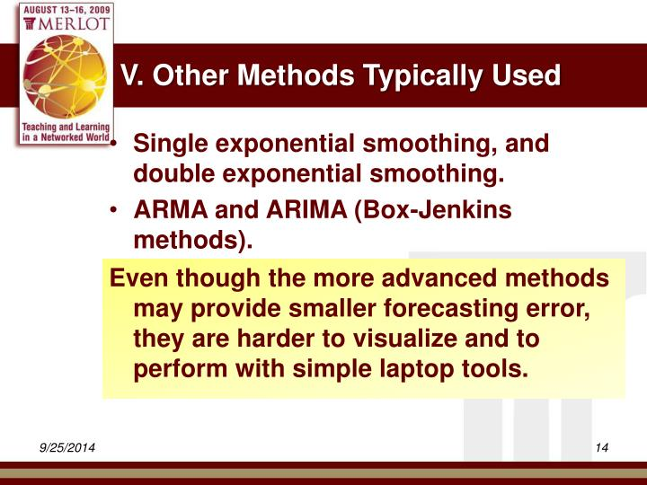 V. Other Methods Typically Used