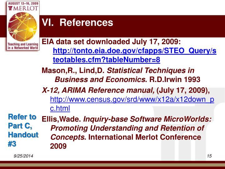 VI.  References