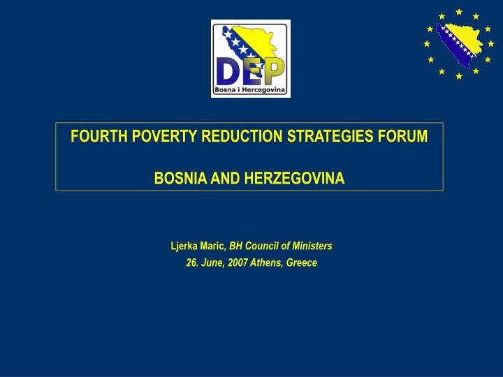 FOURTH POVERTY REDUCTION STRATEGIES FORUM