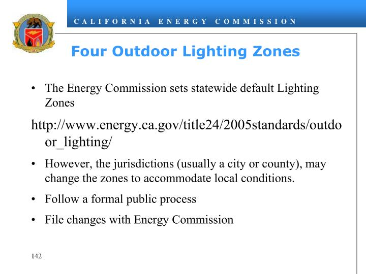 Four Outdoor Lighting Zones