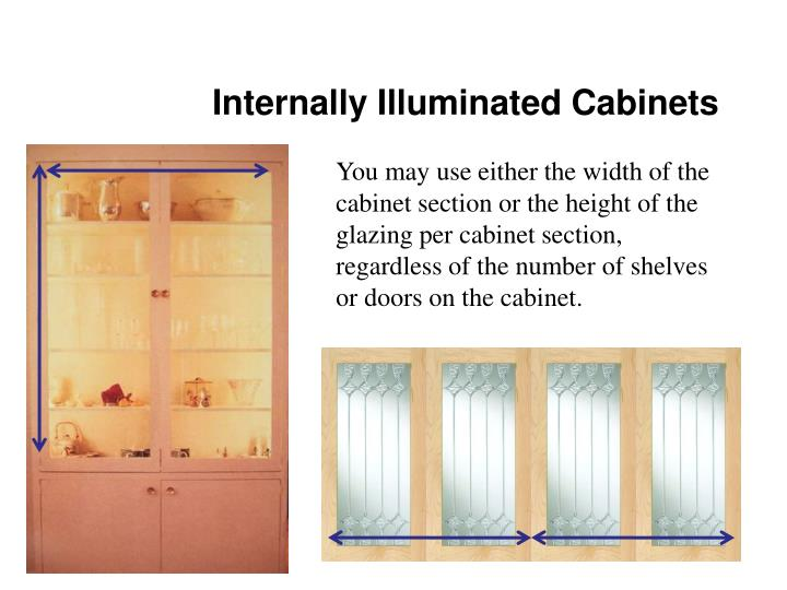 Internally Illuminated Cabinets