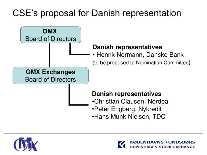 CSE's proposal for Danish representation