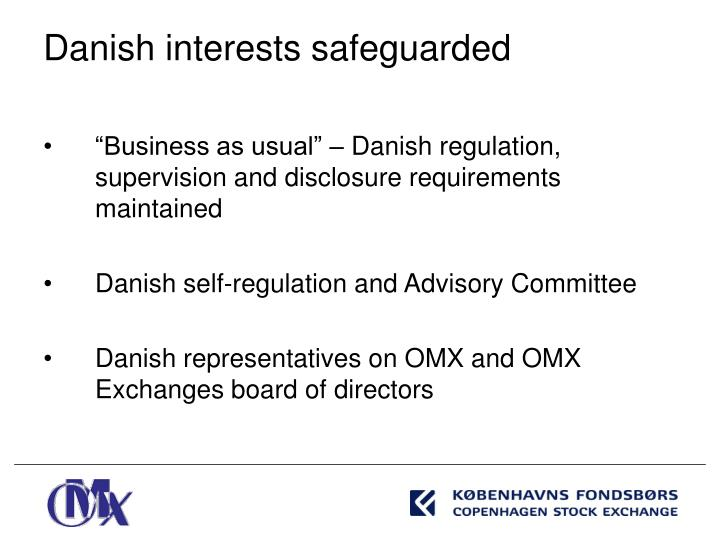 """Business as usual"" – Danish regulation, supervision and disclosure requirements maintained"