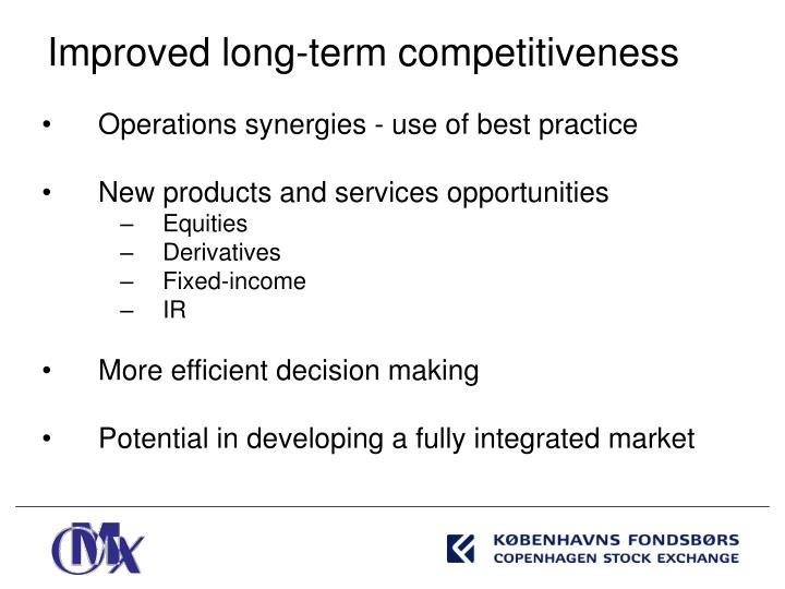 Operations synergies - use of best practice