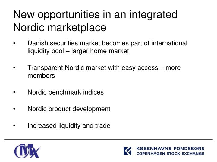 Danish securities market becomes part of international liquidity pool – larger home market