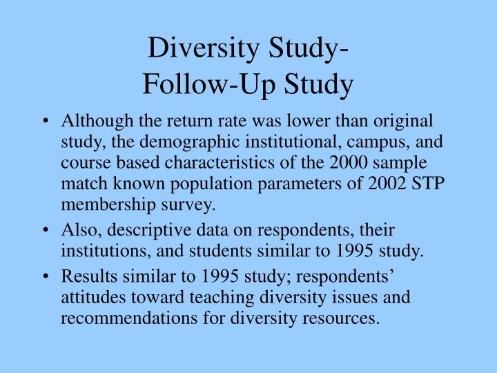 Diversity Study-
