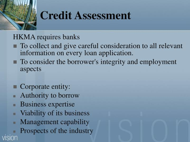 Credit Assessment