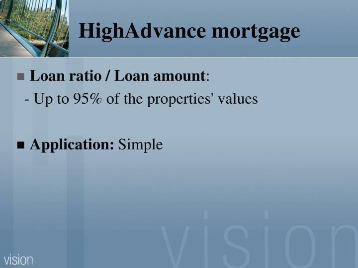HighAdvance mortgage