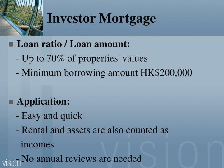 Investor Mortgage