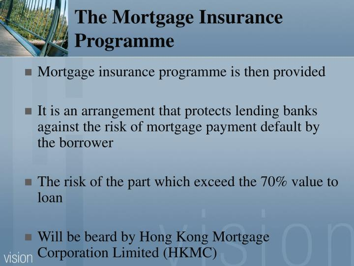 The Mortgage Insurance Programme
