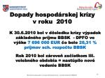 dopady hospod rskej kr zy v roku 2010