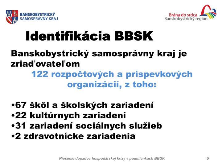 Identifikácia BBSK