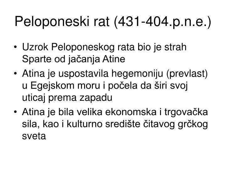 Peloponeski rat (431-404.p.n.e.)