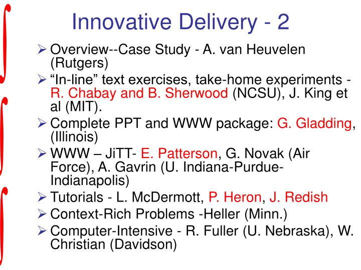 Innovative Delivery - 2