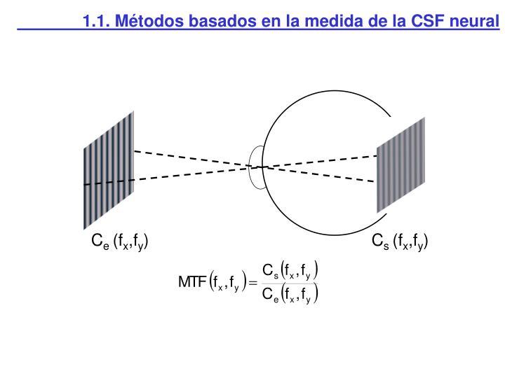 1.1. Métodos basados en la medida de la CSF neural