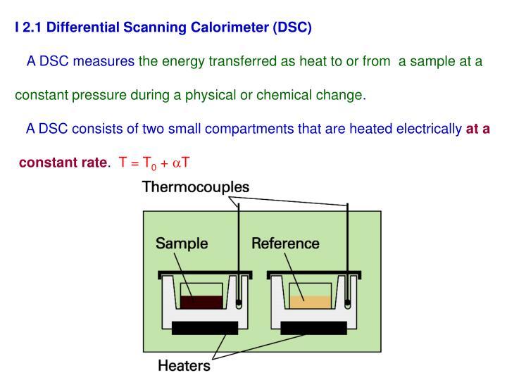 I 2.1 Differential Scanning Calorimeter (DSC)