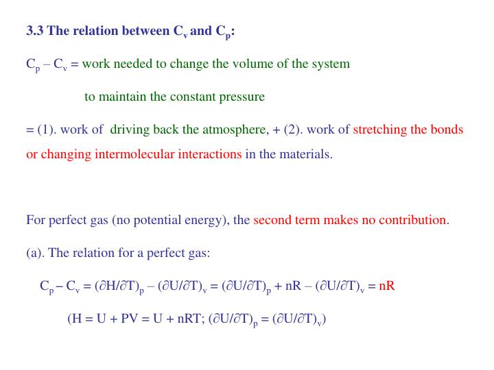 3.3 The relation between C