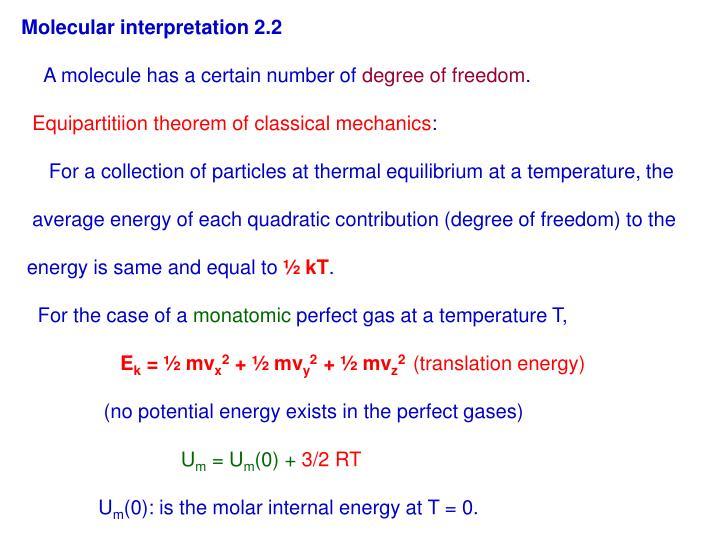 Molecular interpretation 2.2